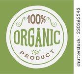 100  organic product vector...   Shutterstock .eps vector #230362543