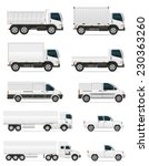 set of icons cars and truck for ...   Shutterstock .eps vector #230363260