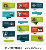 coffee flat banner background... | Shutterstock .eps vector #230364130