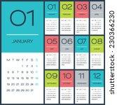 Calendar 2015 Vector Design...