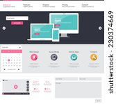 flat website design template... | Shutterstock .eps vector #230374669