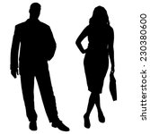 vector silhouettes of business... | Shutterstock .eps vector #230380600