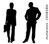 vector silhouettes of business... | Shutterstock .eps vector #230381806