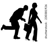 vector silhouettes of business... | Shutterstock .eps vector #230381926
