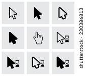 vector black cursor icon set on ... | Shutterstock .eps vector #230386813