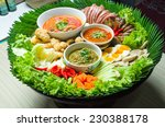 mix northern thai meat and... | Shutterstock . vector #230388178