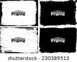 grunge frame set texture  ... | Shutterstock .eps vector #230389513