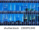 glass facade of a building with ... | Shutterstock . vector #230391340