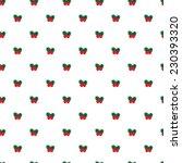 simple mistletoe seamless... | Shutterstock . vector #230393320