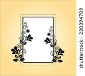 floral frame vector flower... | Shutterstock .eps vector #230394709