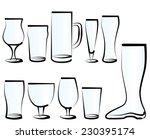 vector illustration set of beer ... | Shutterstock .eps vector #230395174