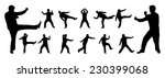 black and white martial arts... | Shutterstock .eps vector #230399068