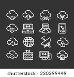 doodle internet icon set | Shutterstock .eps vector #230399449