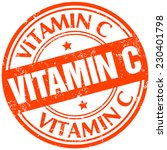 vitamin c stamp | Shutterstock .eps vector #230401798