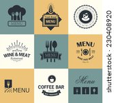 vintage set of restaurant signs ... | Shutterstock .eps vector #230408920