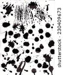 set of grunge ink splashes | Shutterstock . vector #230409673