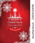 red christmas and new year... | Shutterstock .eps vector #230410498