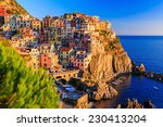 Manarola Village At Sunset....