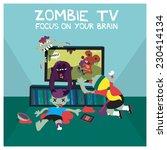 zombie tv | Shutterstock .eps vector #230414134