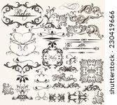 vector set of flourishes for...   Shutterstock .eps vector #230419666