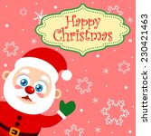 vector christmas card with a... | Shutterstock .eps vector #230421463
