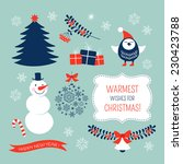 christmas graphic elements set | Shutterstock .eps vector #230423788