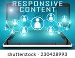 responsive content   text...