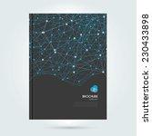 vector abstract brochure with... | Shutterstock .eps vector #230433898