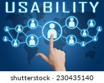 usability concept with hand... | Shutterstock . vector #230435140