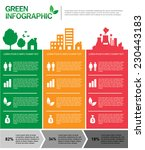 green concept infographic | Shutterstock .eps vector #230443183