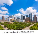 houston skyline from south in... | Shutterstock . vector #230455270