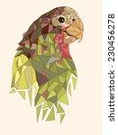 geometric parrot | Shutterstock .eps vector #230456278