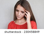 beautiful young attractive...   Shutterstock . vector #230458849