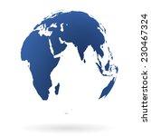 blue transparent earth globe | Shutterstock .eps vector #230467324