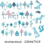 big set with winter trees and... | Shutterstock .eps vector #230467519