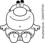 a cartoon illustration of a man ... | Shutterstock .eps vector #230470744