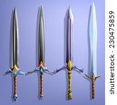 swords set. vector...