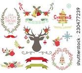 christmas set | Shutterstock .eps vector #230477239