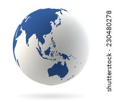 highly detailed earth globe | Shutterstock .eps vector #230480278