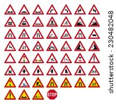road sign set 6 6 | Shutterstock .eps vector #230482048