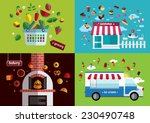 food icon collection. shop ... | Shutterstock .eps vector #230490748