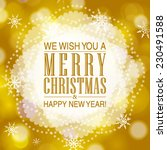 vector merry christmas and... | Shutterstock .eps vector #230491588