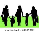 women and children walking in... | Shutterstock . vector #23049433