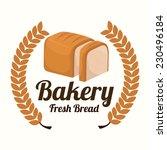 bakery design over white... | Shutterstock .eps vector #230496184