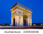 the arc de triomphe in paris at ... | Shutterstock . vector #230503048