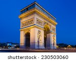 the arc de triomphe in paris at ... | Shutterstock . vector #230503060