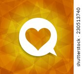 heart web icon on abstract... | Shutterstock .eps vector #230513740