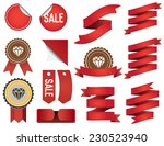 set of ribbons and labels in... | Shutterstock .eps vector #230523940