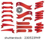 set of ribbons and labels in... | Shutterstock .eps vector #230523949