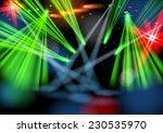 illuminated empty stage  light... | Shutterstock .eps vector #230535970